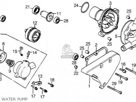 Honda Vt1100c Shadow 1100 1986 g Usa Water Pump