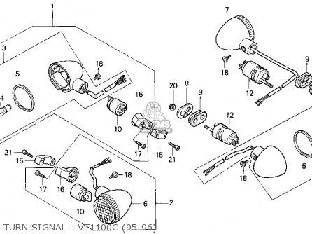 Honda VT1100C SHADOW 1100 1996 (T) USA CALIFORNIA parts ...