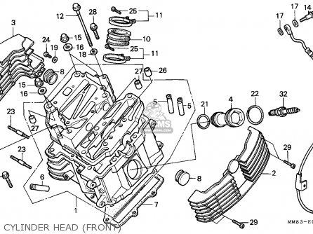 Honda Vt1100c Shadow 1988 J Germany Kph Parts Lists And Schematics