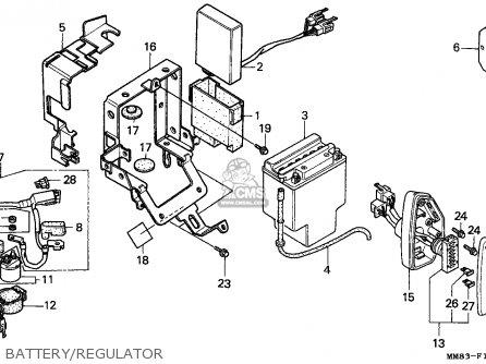 honda vt1100c shadow 1993  p  canada parts list