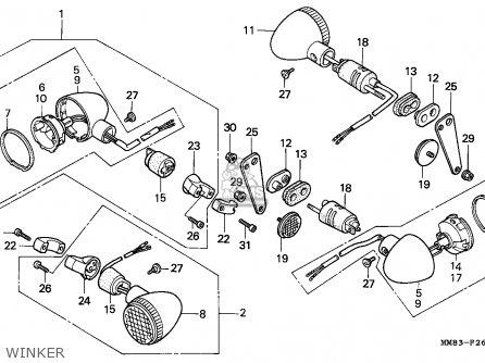 Honda Vt1100c Shadow 1994 R Canada Kph Parts Lists And Schematics