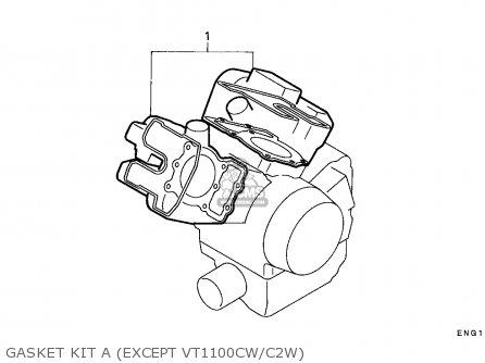 Honda Vt1100c Shadow 1995 S Canada Rbm Parts Lists And Schematics