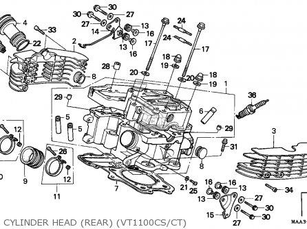 Honda Vt C Shadow S France Cylinder Head Rear Vt Csct Mediumecaas E A Ec