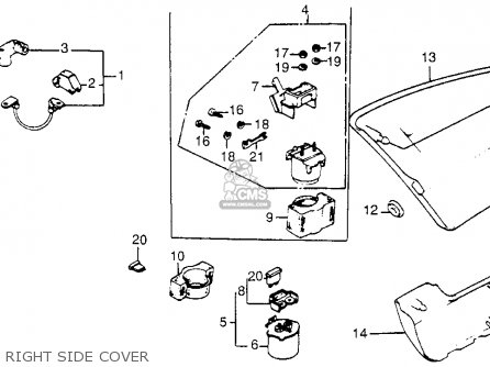 Air Horn Valve Cover together with 1983 Nighthawk 650 Wiring Diagram together with Partslist together with 1981 Cb 750 C Honda Wiring Diagram together with 4 Cylinder Cruiser Motorcycles. on 1982 honda magna