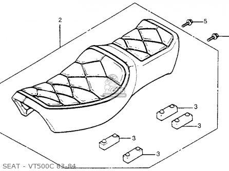 Honda Vt500c Shadow 500 1984 E Usa California Parts Lists And