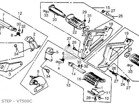 1984 Honda Vt500c Wiring Headlight