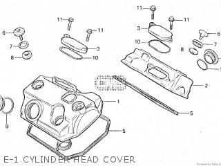 Honda Vt500e 1985 f E-1 Cylinder Head Cover
