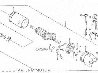 Honda Vt500e 1985 f E-11 Starting Motor