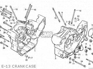 Honda Vt500e 1985 f E-13 Crankcase