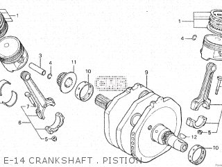 Honda Vt500e 1985 f E-14 Crankshaft   Pistion