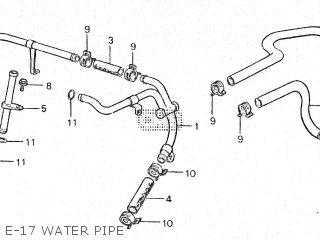 Honda Vt500e 1985 f E-17 Water Pipe