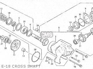 Honda Vt500e 1985 f E-18 Cross Shaft