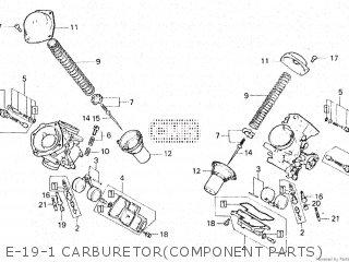 Honda Vt500e 1985 f E-19-1 Carburetorcomponent Parts