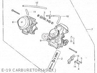 Honda Vt500e 1985 f E-19 Carburetorassy