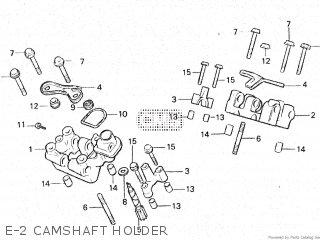 Honda Vt500e 1985 f E-2 Camshaft Holder