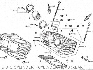 Honda Vt500e 1985 f E-3-1 Cylinder   Cylinder Headrear