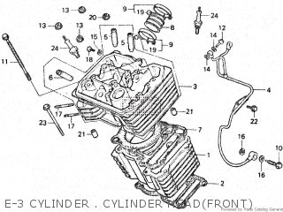 Honda Vt500e 1985 f E-3 Cylinder   Cylinder Headfront