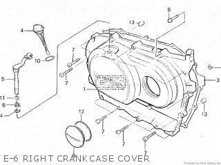Honda Vt500e 1985 f E-6 Right Crankcase Cover