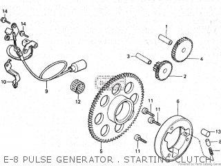 Honda Vt500e 1985 f E-8 Pulse Generator   Starting Clutch