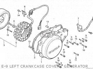 Honda Vt500e 1985 f E-9 Left Crankcase Cover   Generator