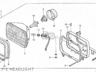 Honda Vt500e 1985 f F-1 Headlight