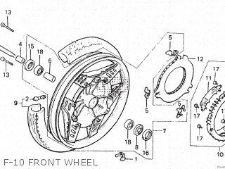 Honda Vt500e 1985 f F-10 Front Wheel