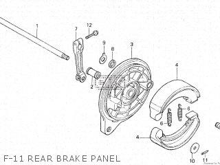 Honda Vt500e 1985 f F-11 Rear Brake Panel