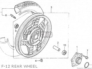 Honda Vt500e 1985 f F-12 Rear Wheel