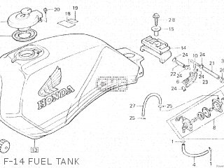 Honda Vt500e 1985 f F-14 Fuel Tank