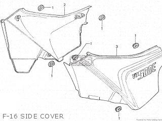 Honda Vt500e 1985 f F-16 Side Cover