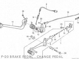 Honda Vt500e 1985 f F-20 Brake Pedal   Change Pedal