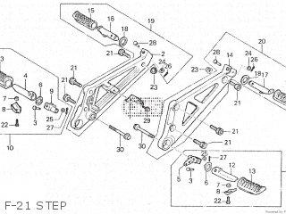 Honda Vt500e 1985 f F-21 Step
