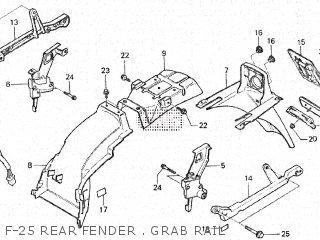 Honda Vt500e 1985 f F-25 Rear Fender   Grab Rail