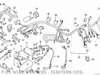 Honda Vt500e 1985 f F-28 Wire Harness   Ignition Coil