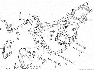 Honda Vt500e 1985 f F-31 Frame Bodoy