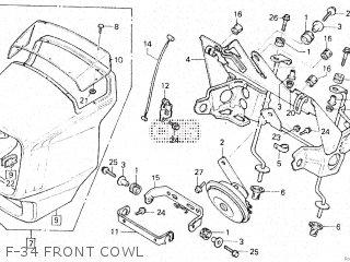Honda Vt500e 1985 f F-34 Front Cowl