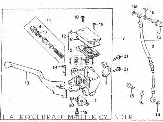 Honda Vt500e 1985 f F-4 Front Brake Master Cylinder