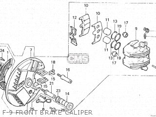 Honda Vt500e 1985 f F-9 Front Brake Caliper