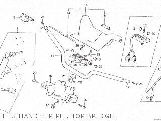 Honda Vt500e 1985 f F- 5 Handle Pipe   Top Bridge