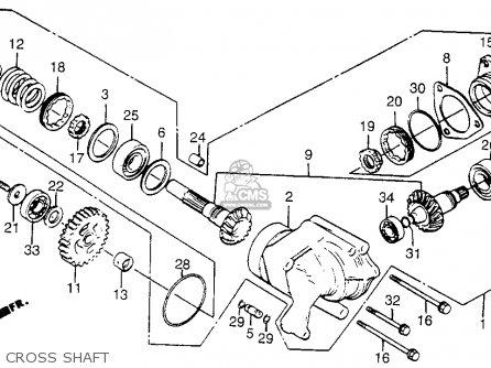 honda vt500ft ascot 1983 (d) usa parts lists and schematicshonda vt500ft ascot 1983 (d) usa cross shaft