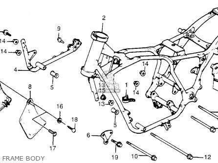 Partslist in addition Honda Motorcycle Frame in addition Cb750 Motor Schematics furthermore Partslist in addition Quality Bike Parts Online Catalog. on cb750 frame