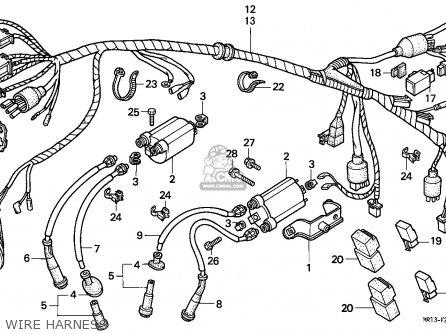 honda vt600c shadow 1991 (m) austria / kph wire harness