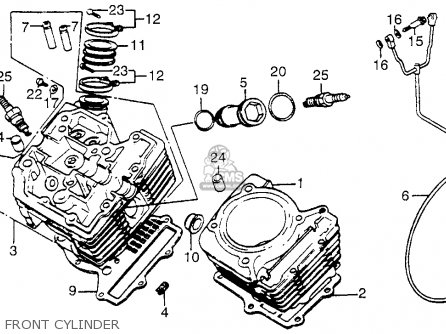 Honda Vt700c Shadow 1984 Usa Front Cylinder