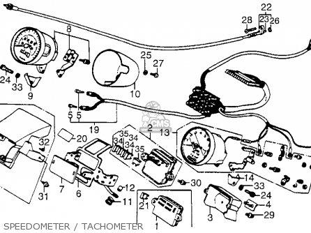 Honda Vt700c Shadow 1985 f Usa Speedometer   Tachometer