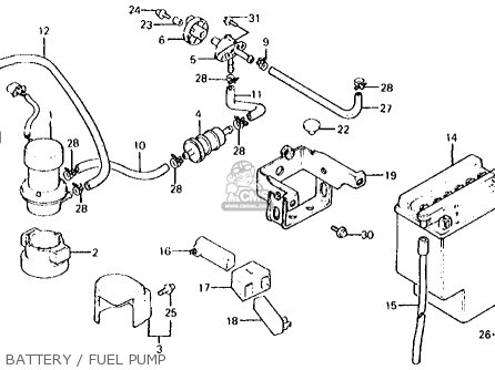 Honda VT750C SHADOW 1983 (D) USA parts lists and schematics