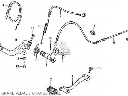 Honda Vt750c Shadow 1983 d Usa Brake Pedal   Change Pedal