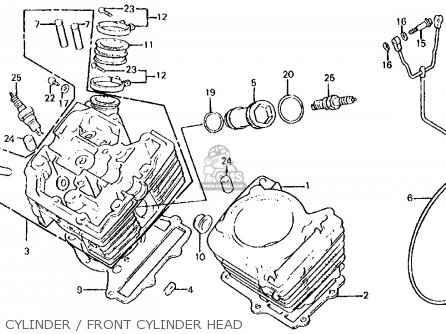 Honda Vt750c Shadow 1983 d Usa Cylinder   Front Cylinder Head