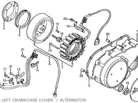 Honda Vt750c Shadow 1983 d Usa Left Crankcase Cover    Alternator