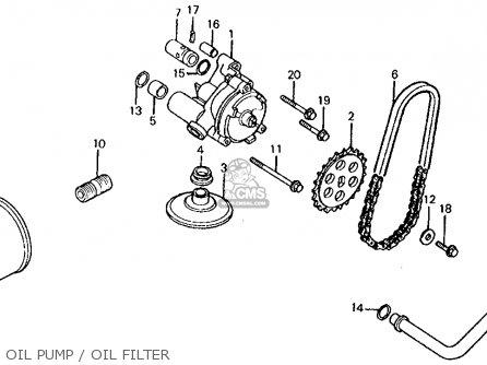 Honda Vt750c Shadow 1983 d Usa Oil Pump   Oil Filter
