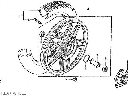 Honda Vt750c Shadow 1983 d Usa Rear Wheel